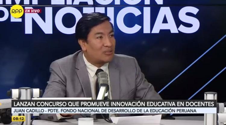 FONDEP busca replicar proyectos innovadores desde el ámbito social, sostuvo Juan Cadillo [VIDEO]