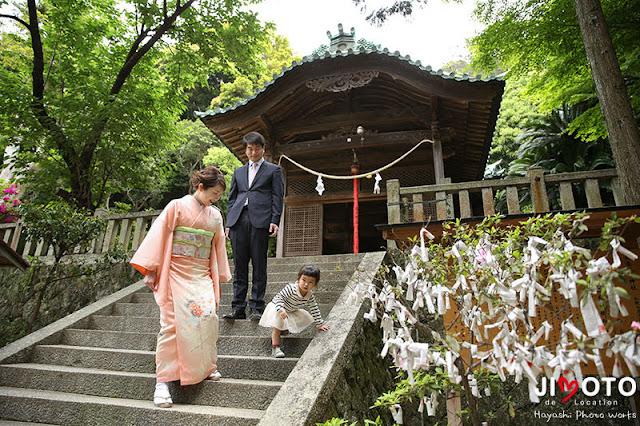 和歌山県の神社でお宮参り出張撮影
