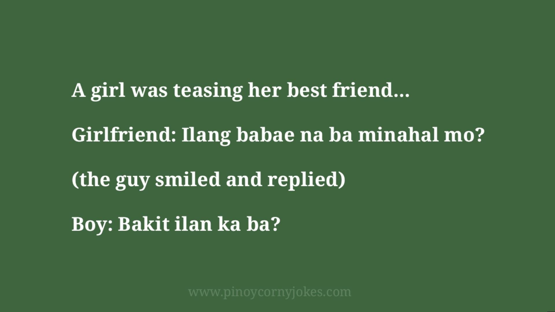 teasing girlfriend tagalog jokes