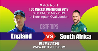 2019 World Cup Match Prediction Tips by Experts SA vs ENG