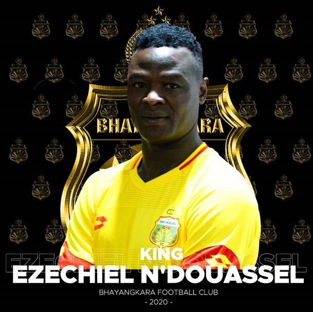 Ezechiel Ndouassel Resmi Direkrut Bhayangkara FC (Media Sosial Bhayangkara FC)