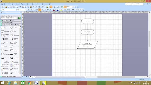 Membuat Flowchart Menggunakan Microsoft Visio 2007 ~ KUAS