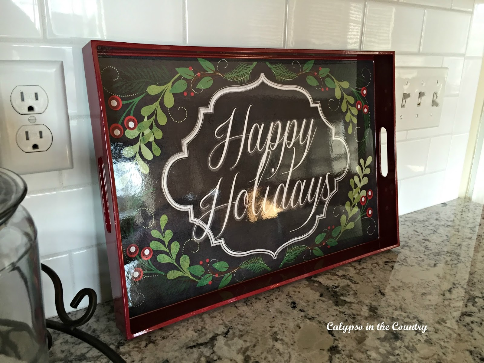 Pier One Holiday Tray