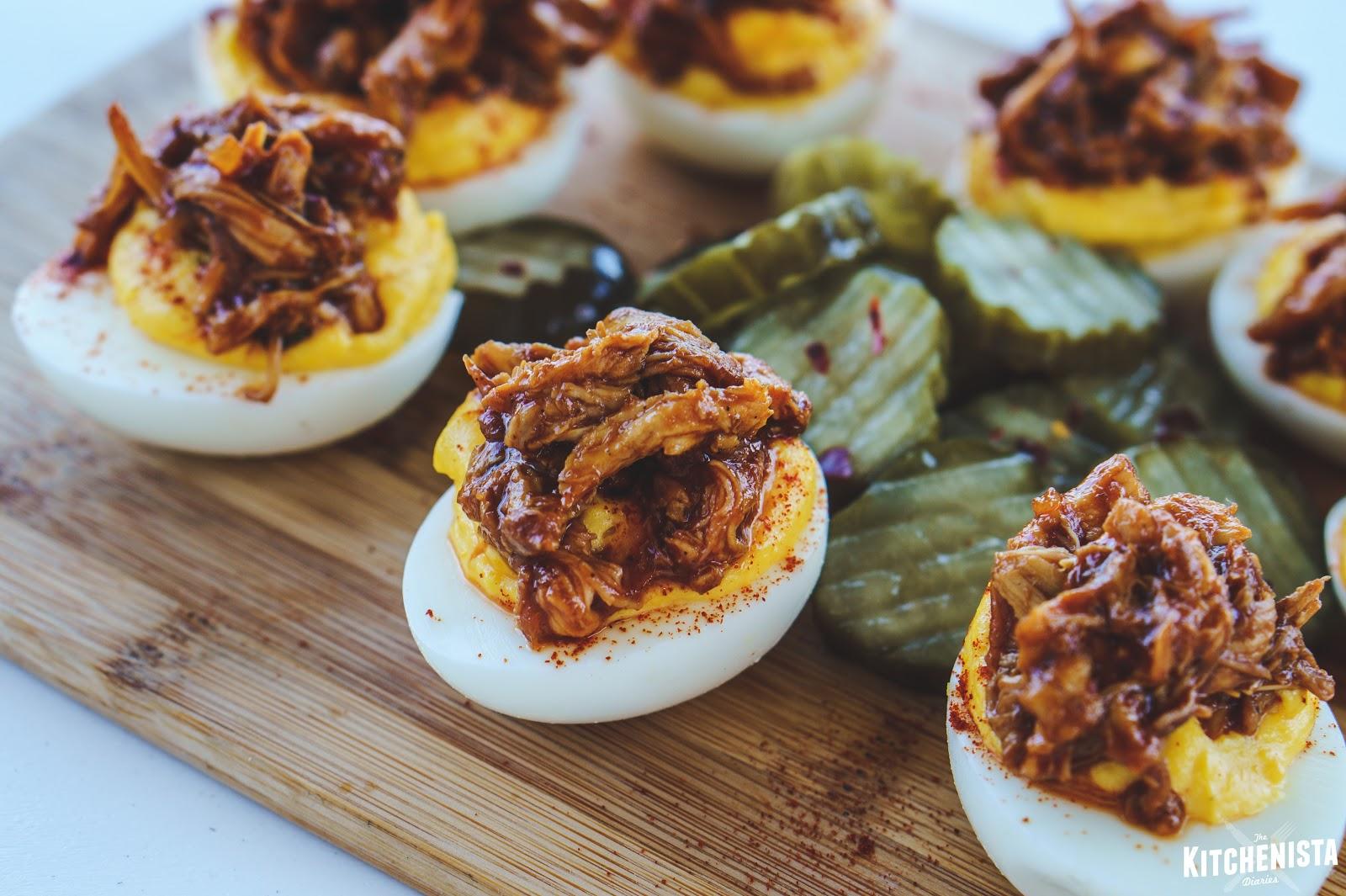 Bbq Deviled Eggs The Kitchenista Diaries