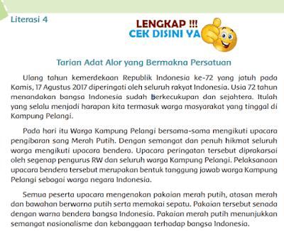 Kunci Jawaban Tematik Kelas 6 Tema 6 Literasi 4 Tarian Adat Alor yang Bermakna Persatuan www.simplenews.me