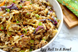 Easy Egg Roll in a Bowl, a featured post at Encouraging Hearts and Home right here @ Scratch Made Food!