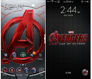 Tema The Avengers for Samsung