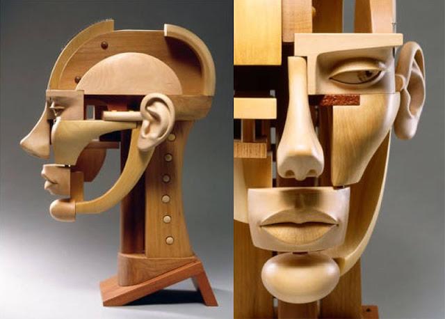 Green Pear Diaries, arte, escultura, John Morris, Head, Cabeza