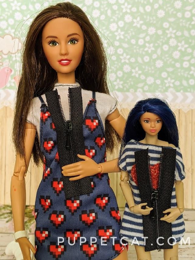 молнии для кукол