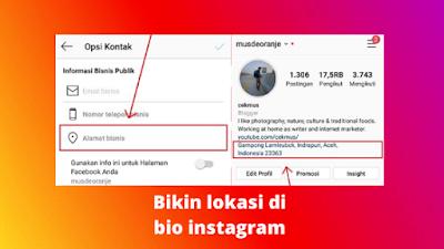 Cara Menambahkan Lokasi Di Bio Instagram Terbaru