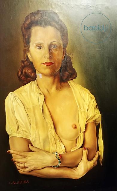 portrait de Gala peint par Dali