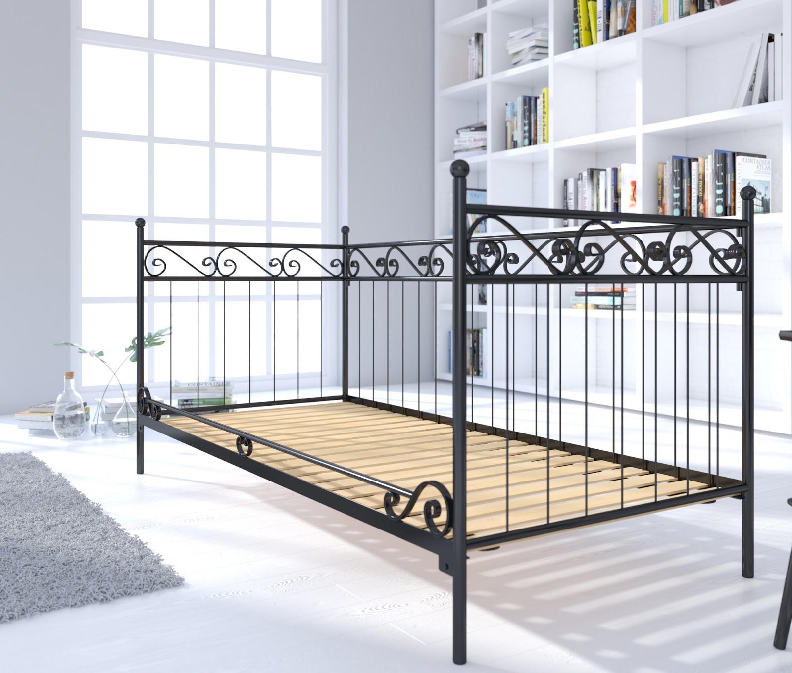 Łóżko metalowe sofa wzór 2 S