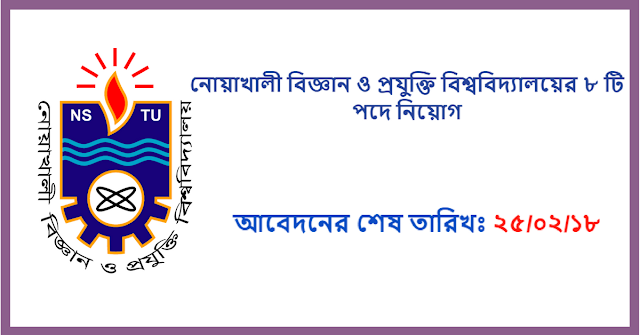Noakhali Science and Technology University Job Circular 2018 1