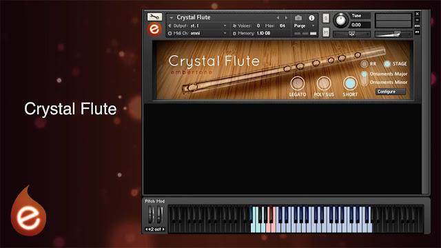 Interface da Library Embertone - Crystal Flute (KONTAKT)