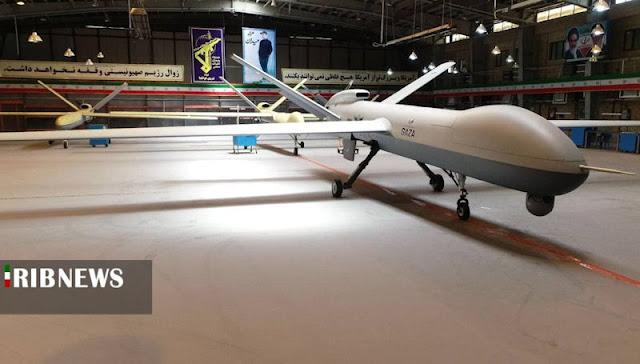 drone terbaru iran, iran luncurkan drone bernama gaza, drone iran