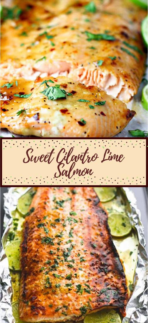 Sweet Cilantro Lime Salmon #dinnerrecipe #food #amazingrecipe #easyrecipe
