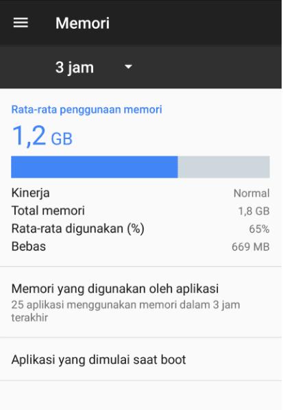Bersihkan RAM HP