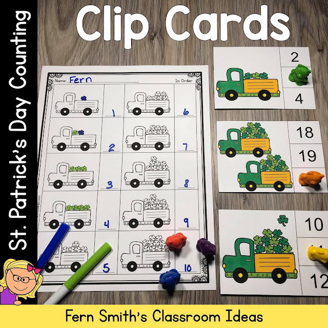 Click Here for the March St. Patrick's Day Counting Clip Cards