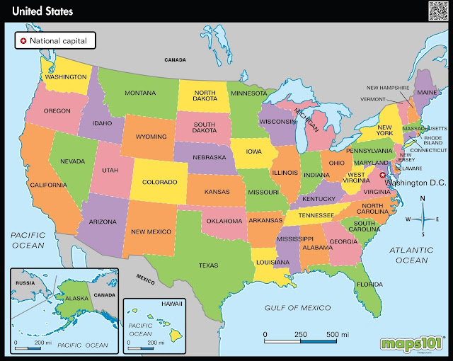 Map of USA States