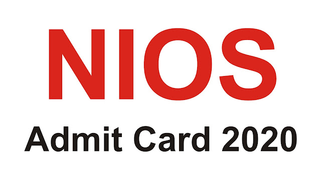 nios admit card; nios; nios admit card 2020