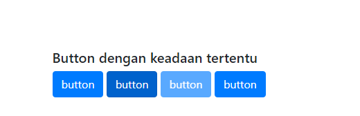 Hasil button dengan keadaan tertentu