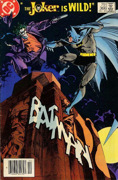 cover of Batman #366 (1983). Property of DC comics.