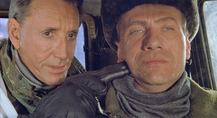 Roy Scheider und Jürgen Prochnow in POWERPLAY (THE FOURTH WAR, 1990) / Quelle: DVD Screenshot (skaliert)
