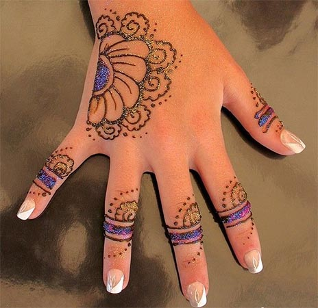 Glitter Kids Mehndi Designs