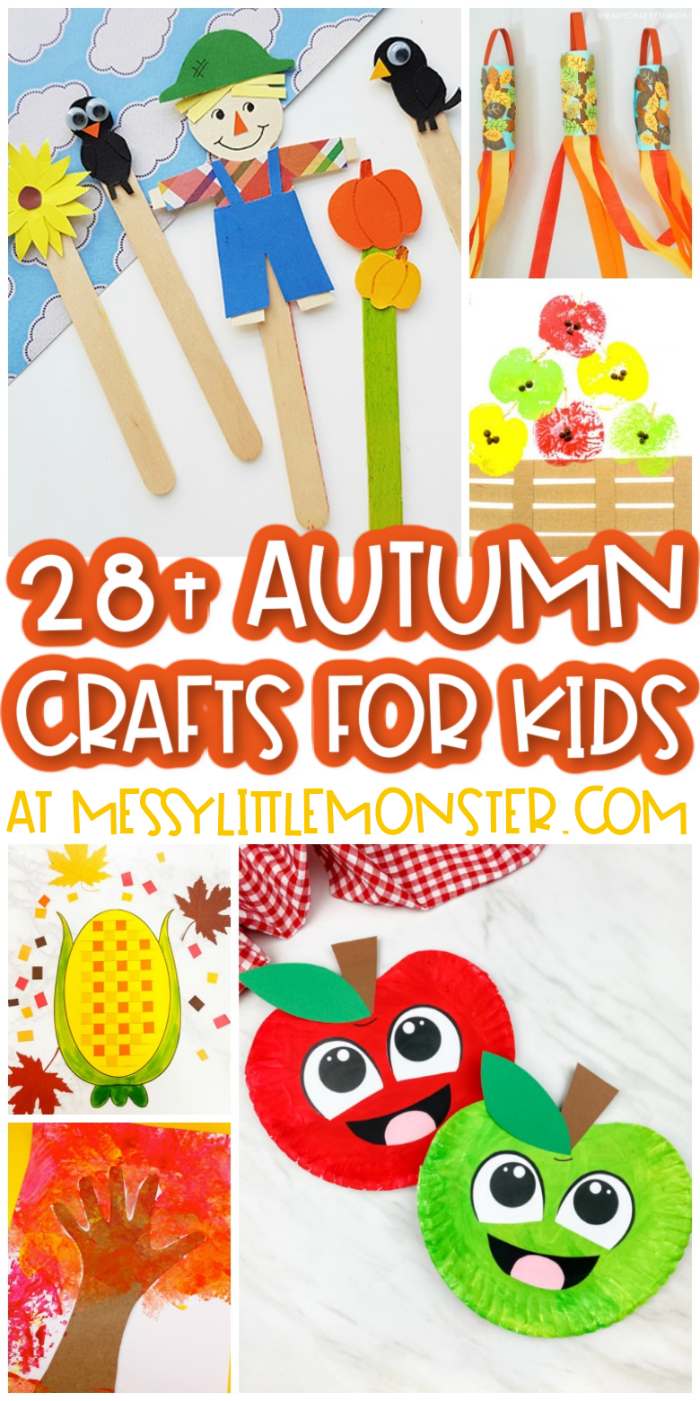 Fun and easy autumn crafts for kids.