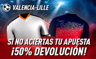 sportium promocion champions Valencia vs Lille 5 noviembre 2019