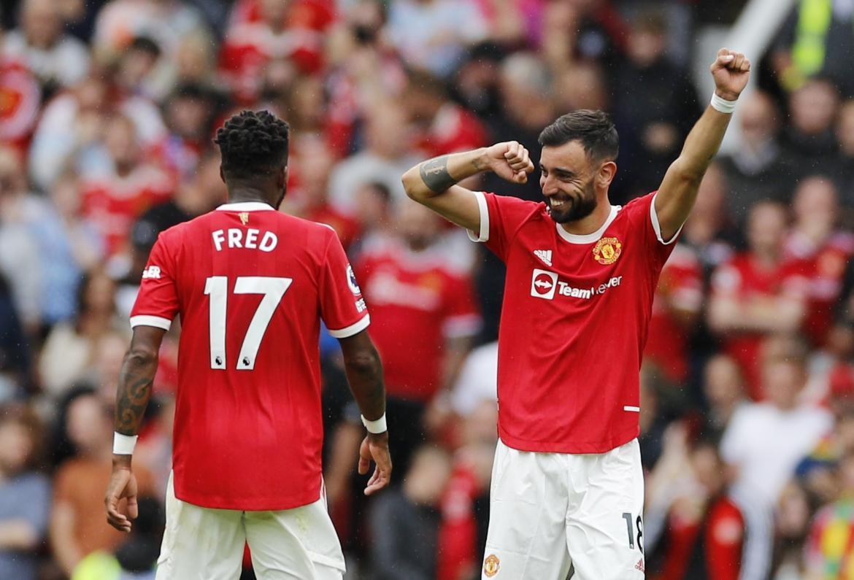 Arrancó la Premier League con un show de Bruno Fernandes en la goleada del Manchester United al Leeds de Bielsa