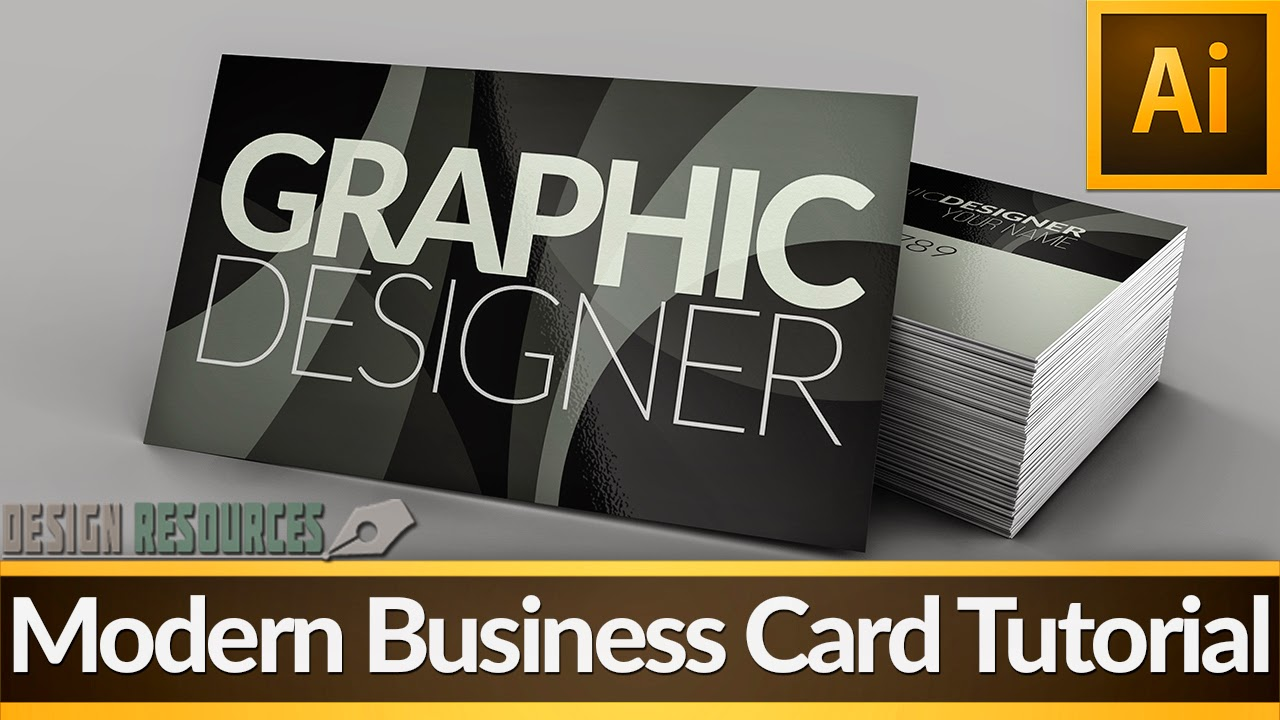 Modern Business Card — Illustartor Tutorial