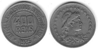 Moeda de 400 Réis, 1925