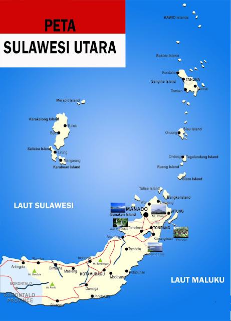 Peta Sulawesi Utara Lengkap