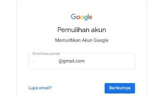 Masuk recovery akun google