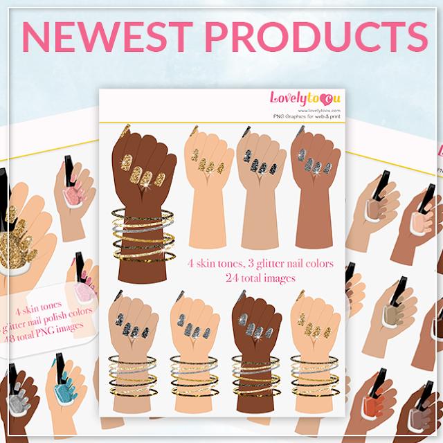 nail polish hands clipart