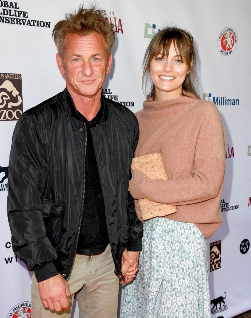 Sean Penn y su joven esposa