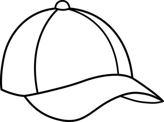 Tranh tô màu mũ lưỡi trai