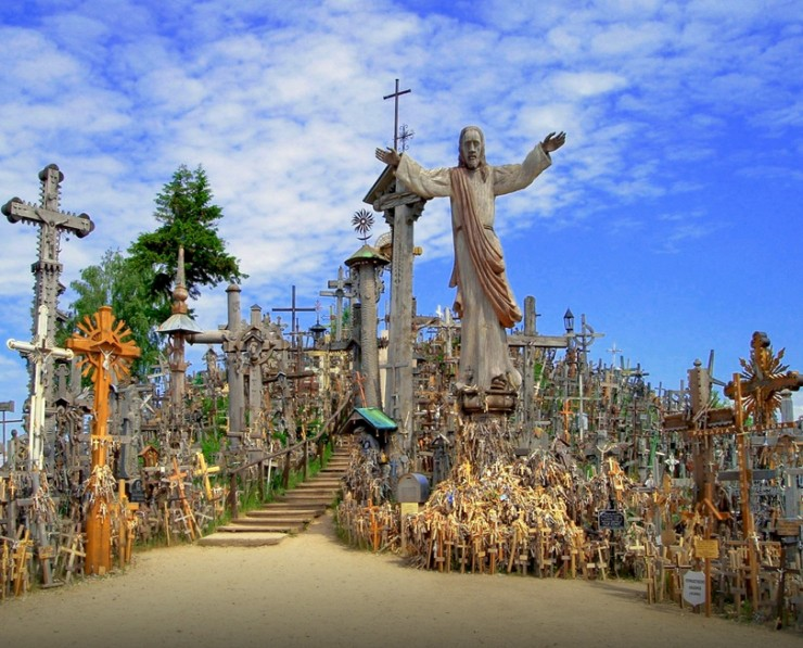 Top 10 Places to See in the Baltic States - The Hill of Crosses, Lithuania