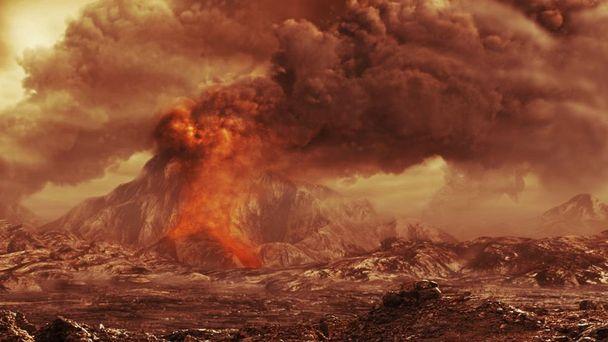 Ilustrasi Gunung Berapi venus