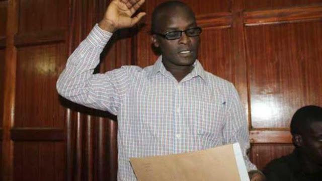 Douglas Nyakundi in court.