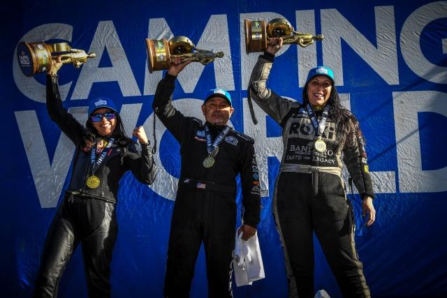 Alexis DeJoria y Angelle Sampey con victoria en las Thunder Valley Nationals