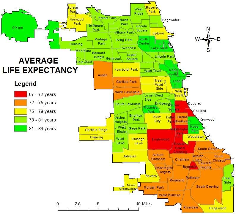 Mapping For Justice: Chicago Life Expectancy Maps