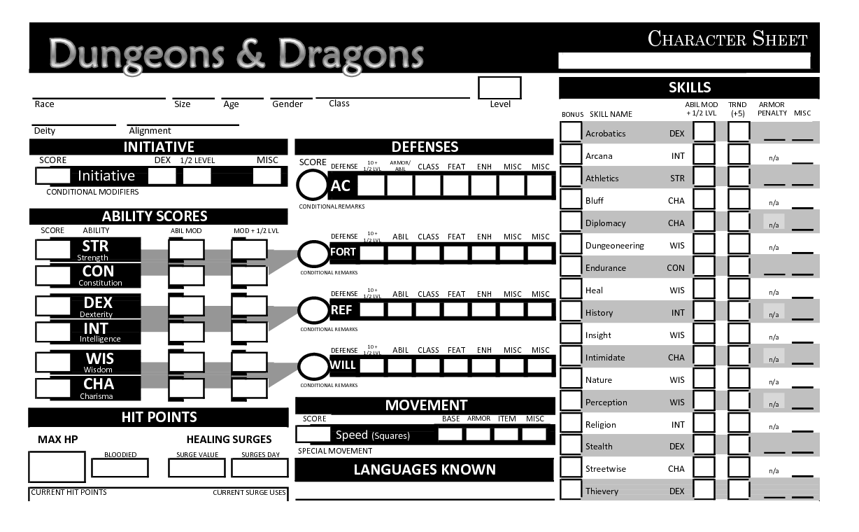 of the offic...D D 5e Character Sheet Pdf