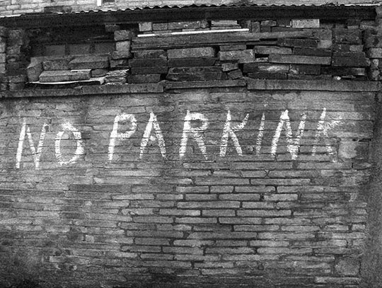 no parkink, urban photography, black and white, photo, contemporary