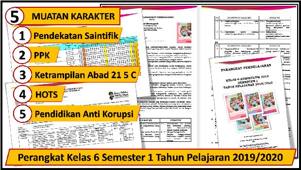 Perangkat Kelas 6 Semester 1 Tahun Pelajaran 2019/2020