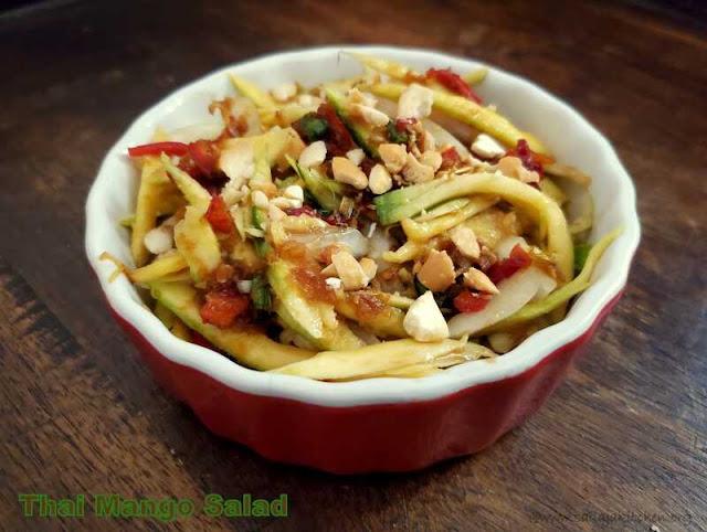 images of Thai Mango Salad / Thai Green Mango Salad Recipe / Easy Mango Salad / Mango Recipes - Thai Recipes