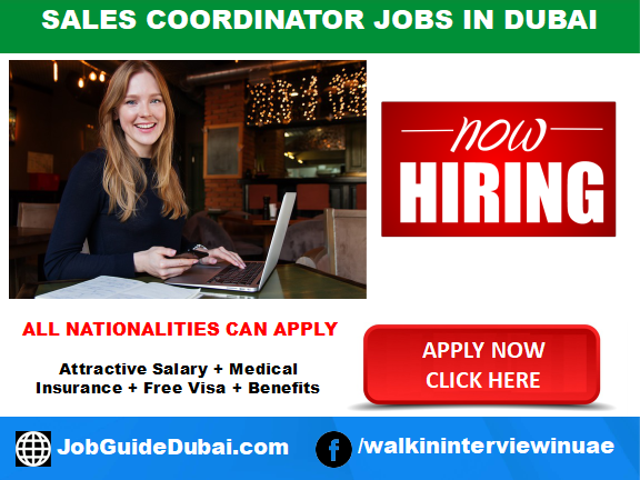 Global Arc LLC career for Sales coordinator jobs in Dubai UAE