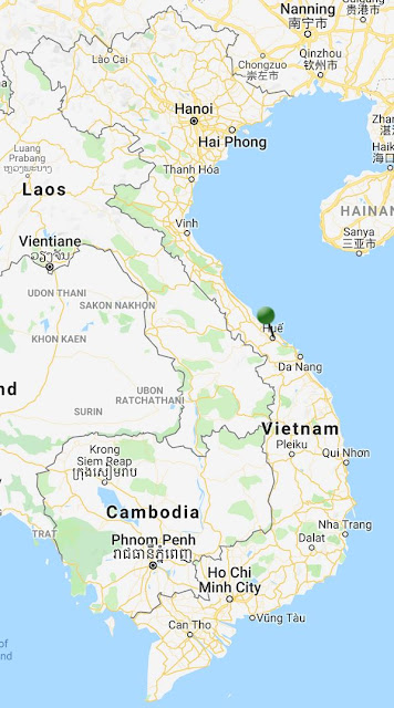 pin point map hue vietnam