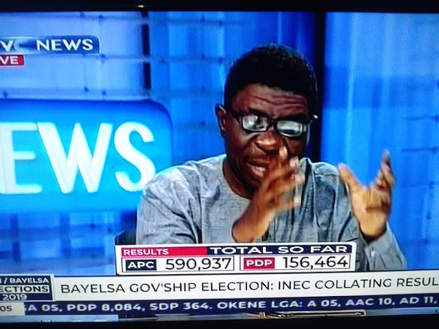 Bayelsa Election: APC's Lyon Leads PDP's Diri With 434,473 Votes - TVC News (Photo)